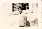 <h5>Pedro na Cadeia Civil da Praia- 1970</h5><p>Fotografia feita secretamente enquanto prisioneiro politico da PIDE (Polícia Internacional e de Defesa do Estado)</p>
