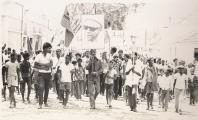 <h5>Marcha para Independencia em Assomada.</h5><p>Uma das várias marchas relaizadas em todo o país para a mobilização da população a favor da Independência Nacional.</p>
