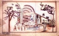 """<h5>Centro Comercial em Tucson Arizona</h5><p>Projecto de um Centro Comercial e habitacional em Tucson Arizona - Vista da entrada principal do """"Mall"""" (espaço longitudinal principal).</p>"""