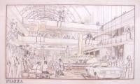 """<h5>Centro Comercial em Tucson Arizona</h5><p>Projecto de um Centro Comercial e habitacional em Tucson Arizona - Vista de um dos espços centrais do """"Mall"""" (espaço longitudinal principal).</p>"""
