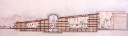 <h5>Centro Comercial em Tucson Arizona</h5><p>Projecto de um Centro Comercial e habitacional em Tucson Arizona - Corte </p>