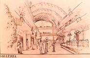 """<h5>Centro Comercial em Tucson Arizona</h5><p>Projecto de um Centro Comercial e habitacional em Tucson Arizona - Vista do """"Mall"""" (espaço longitudinal principal).</p>"""