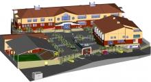<h5>Liceu de Ponta Verde- Ilha do Fogo</h5><p>Construído em 2010, foi considerado como sendo o melhor liceu do país.</p>