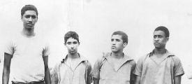 <h5>Camaradas na Clandestinidade</h5><p>Pedro Martins, Nene Rodrigues (falecido), Silvino Monteiro e Osvaldo Furtado (falecido).</p>