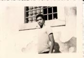 <h5>Pedro na Cadeia Civil da Praia- 1970</h5><p>Fotografia feita secretamente enquanto prisioneiro politico da PIDE (Polícia Internacional e de Defesa do Estado) na Cadeia Civil da Praia.</p>