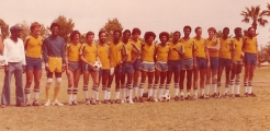 "<h5>Futebolista da ""International Stars"" </h5><p>Equipa vitoriosa do campionato de futebol em Tucson, enquanto frequentava a University of Arizona, 1979.</p>"