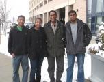 <h5>Inverno em Boston, Massachusetts</h5><p>Entre os filhos Iany, Winnie e Kunta, 2011</p>
