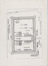 <h5>Campo de Concentração de Tarrafal</h5><p>Planta da da muralha e das casernas da estrutura principal (a prisão) do Campo de Concentração de Tarrafal.</p>