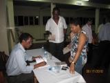 """<h5>3-Conferência em Ribeira Grande de Sto. Antão</h5><p>Assinatura do livro """"Testemhnhos de Um Combatente"""" pelo seu autor no fim da Conferência em Ribeira Grande na ilha de Santo Antão</p>"""