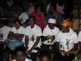 <h5>Em Assomada-3</h5><p>Plateia de jovens de Sta. Catarina  no Polivalente de Assomada assistindo uma intervenção cívica de Pedro Martins</p>