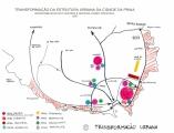 <h5>Proposta de Transformação da Centro Histórico da Praia</h5><p>Proposta do sistema rodovíario principal assim como as principais infra-estruturas da capital do país.</p>