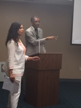 <h5>Com Dr. Lucy Rose na Conferência</h5><p>Dr. Lucy Rose foi a promotora principal das Comemorações dos 40 anos de aniversário da Independencia Nacional de Cabo Verde em Providence-EUA</p>