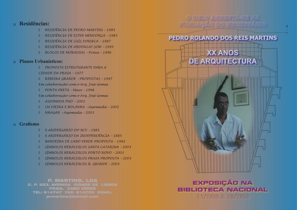 1-1a Exposição de Arquitectura em Cabo Verde - Brochura de apresentação