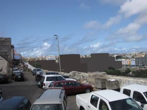 2B- Vista de Ponta Belém, com o edifício proposto